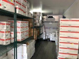 sysco stacked boxes